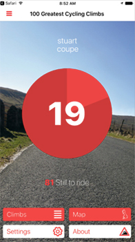 100 great cycling climbs app