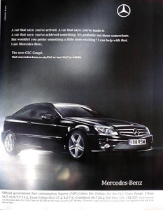 mercedes advert