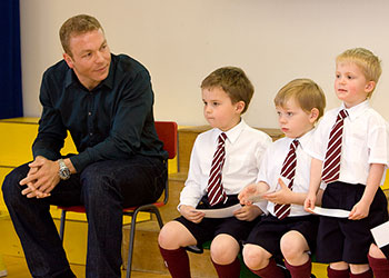 sir chris hoy visit to george watsons college
