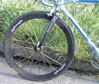 lightweight wheel on colnago c40