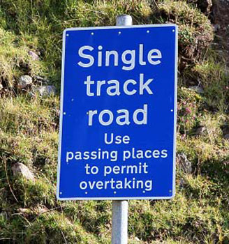 single track road instructions