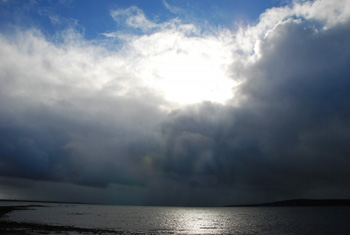 rain over loch indaal